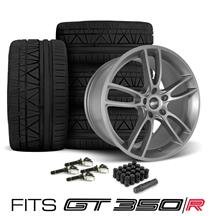 Mustang SVE GT350 GT7 Wheel & Tire Kit - 19x11/11.5  - Satin Graphite - Invo Tires (15-18)
