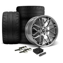 Mustang Downforce Wheel & Tire Kit - 20x8.5/10  - Gloss Graphite - NT05 Tires (15-19)