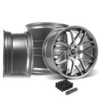 Mustang Downforce Wheel Kit - 20x8.5/10  - Gloss Graphite (15-20)