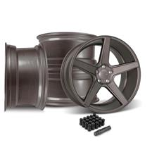 Mustang KMC 685 District Wheel Kit - 20x8.5/10  - Satin Bronze (15-18)