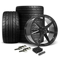 Mustang SVE XS7 Wheel & Tire Kit - 20x10  - Tuxedo Black - NT555 G2 Tires (15-19)