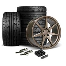 Mustang SVE XS7 Wheel & Tire Kit - 20x10  - Ceramic Bronze - NT555 G2 Tires (15-19)