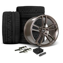 Mustang SVE GT7 Wheel & Tire Kit - 19x10/11  - Bronze Metallic - Invo Tires (15-19)