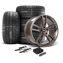 Mustang SVE GT7 Wheel & Tire Kit - 20x10/11  - Bronze Metallic - M/T Street Comp Tires (15-19)