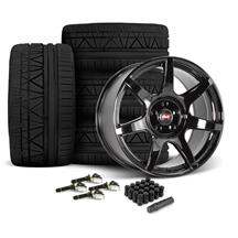 Mustang SVE R350 Wheel & Tire Kit - 19x10/11  - Gloss Black - Invo Tires  (15-18)