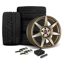 Mustang SVE R350 Wheel & Tire Kit - 19x10/11  - Satin Bronze - Invo Tires (15-18)