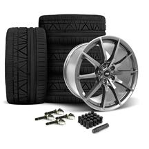 Mustang SVE S350 Wheel & Tire Kit 19x10/11  - Gloss Graphite - Invo Tires (15-18)