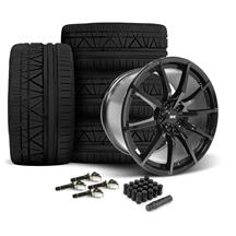 Mustang SVE S350 Wheel & Tire Kit 19x10/11  - Gloss Black - Invo Tires  (15-18)