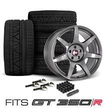 Mustang SVE R350 Wheel & Tire Kit - 19x10/11  - Liquid Graphite - Invo Tires (15-18)