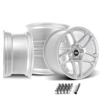 Mustang SVE X500 Wheel Kit - 19x10/11  - Gloss Silver (15-20)