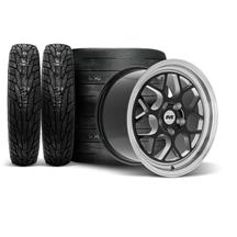 SVE Mustang Drag Comp Wheel & Tire Kit - 18x5/17x10  - Gloss Black - M/T Tires (15-21)