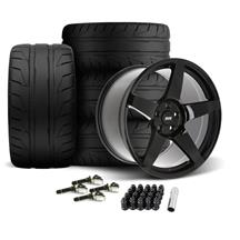 SVE Mustang R355 Wheel & Tire Kit - 19x10/11  - Gloss Black (15-20) Nitto NT05