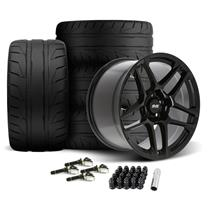 Mustang SVE X500 Wheel & Tire Kit - 19x10/11  - Gloss Black (15-20)