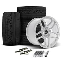 Mustang SVE X500 Wheel & Tire Kit - 19x10/11  - Gloss Silver - Invo Tires (15-19)