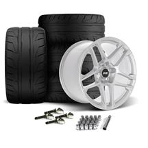 Mustang SVE X500 Wheel & Tire Kit - 19x10/11  - Gloss Silver - NT05 Tires (15-19)
