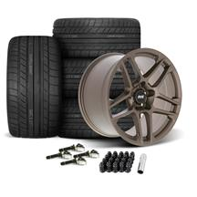 Mustang SVE X500 Wheel & Tire Kit - 19x10/11  - Satin Bronze - Cooper Tires (15-19)