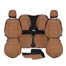Mustang Katzkin Factory Style Leather Seat Upholstery  - Dark Saddle Brown (15-20) Convertible