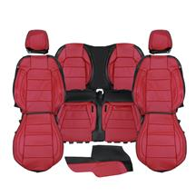 Mustang Katzkin Factory Style Leather Seat Upholstery  - Red (15-20) Convertible