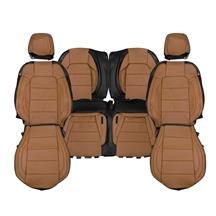 Mustang Katzkin Factory Style Leather Seat Upholstery - Dark Saddle Brown (15-20) Coupe