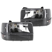 F-150 SVT Lightning Smoked Headlight Kit (93-95)