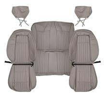 Mustang TMI Vinyl Seat Upholstery - Sport Seats  - Titanium Gray (1992) Coupe