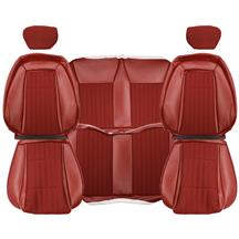 Mustang TMI Cloth Seat Upholstery - Sport Seats  - Scarlet Red (1992) Convertible
