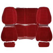 Mustang TMI Cloth Seat Upholstery - Sport Seats  - Canyon Red (1984) Hatchback