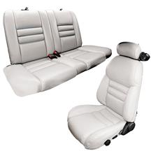 Mustang TMI Sport Seat Upholstery  Oxford White Vinyl (94-96) Convertible