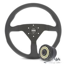 Mustang Momo Montecarlo Steering Wheel & Hub Adapter  - Black (79-82)