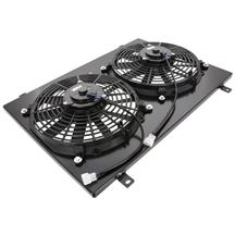 Mustang SVE Aluminum Fan & Shroud Kit  - Black (79-93)