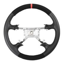 Mustang SVE FR500 Style Steering Wheel   - Black Micro Suede W/ Red Reference Stripe  (94-04)