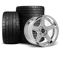 Mustang SVE 2003 Cobra Style Wheel & Tire Kit - 17x9/10.5  - Chrome - Deep Dish - NT555 G2 Tires...