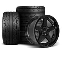 Mustang SVE 2003 Cobra Style Wheel & Tire Kit - 17x9/10.5  - Black - Deep Dish - NT555 G2 Tires ...