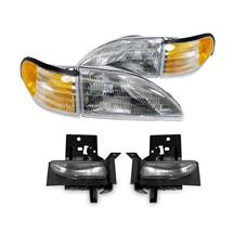 SVE Mustang Headlight & Fog Light Kit (94-98) GT/V6