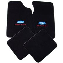 Mustang Floor Mats w/ Ford Racing Logo Black  (79-93)