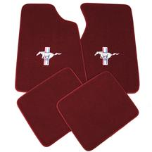 ACC Mustang Floor Mats w/ Pony Logo Ruby Red  (93-93) 8886-825-110
