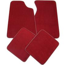 ACC Mustang Floor Mats - Medium/Scarlet Red  (82-92) FM06PN-815-NO LOGO