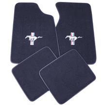 ACC Mustang Floor Mats w/ Pony Logo Regatta/Royal Blue  (85-93) 8886-9304-110