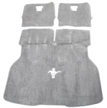 ACC Mustang Hatch Area Carpet with Running Pony Logo Titanium Gray (90-92) 3294-9779-110