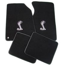 ACC Mustang Floor Mats with Cobra Snake Logo Black (94-98) FM93PN-801-135