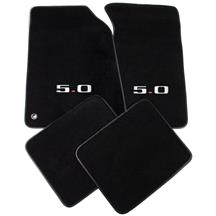 Mustang ACC Floor Mats with 5.0 Logo Black (94-95)