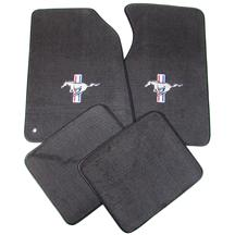 Mustang ACC Floor Mats with Tri Bar Pony Logo Dark Charcoal (99-04)