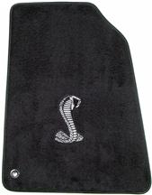 Mustang ACC Floor Mats with Cobra Snake Logo Dark Charcoal (99-04)