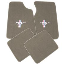 Mustang ACC Floor Mats with Pony Logo Medium Graphite  (96-98)