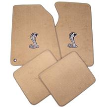 Mustang ACC Floor Mats with Cobra Snake Logo Saddle Tan (94-98)
