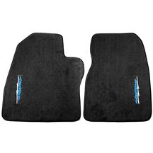 F-150 SVT Lightning ACC Vertical Lightning Logo Floor Mats  - Black (93-95)