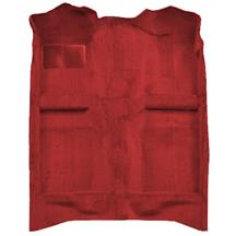 ACC Mustang Floor Carpet w/ Mass Back Medium Red/Scarlet Red (83-92) Convertible 3297-815 MASS BACK