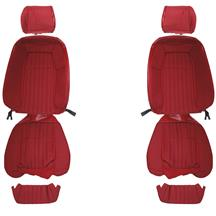 Mustang Acme Cloth Front Seat Upholstery - Sport Seats  - Scarlet Red (87-89)