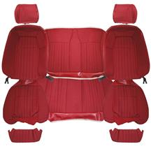 Acme Mustang Cloth Seat Upholstery - Sport Seat  - Scarlet Red (87-89) Convertible