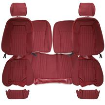 Mustang Acme Cloth Seat Upholstery - Sport Seats  - Scarlet Red (87-89) Coupe